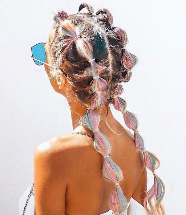 Bubble braids, el peinado del verano