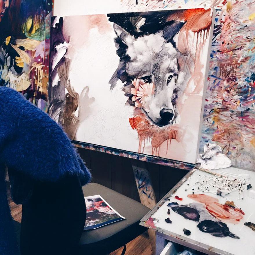 Sueños hecho cuadros de Dimitra MIlan