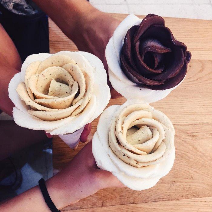 Flores de helado