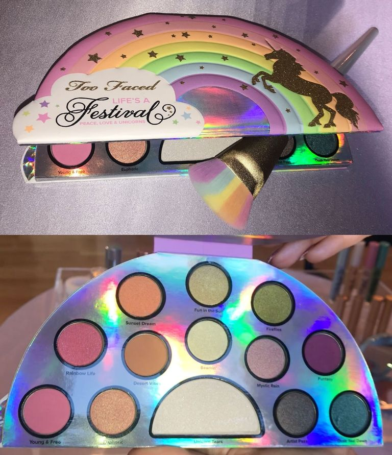 colección de maquillaje de unicornio de Too Faced