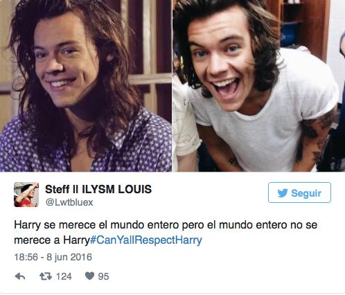 Tuits de fans apoyando a Harry Styles