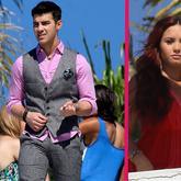 Joe Jonas marca paquete en una sesión de fotos con Demi Lovato