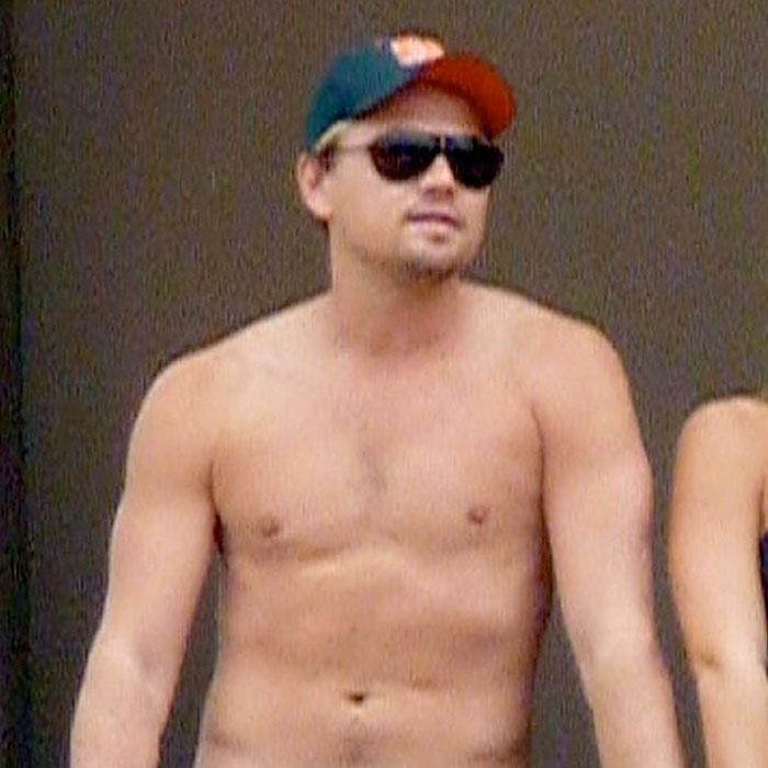 Leonardo DiCaprio comienza el año sin camiseta