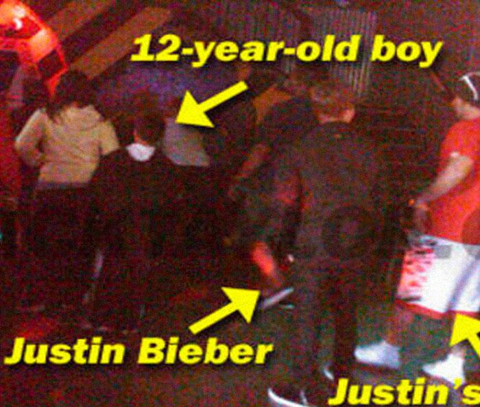 Justin Bieber se pone violento con un niño de 12 años