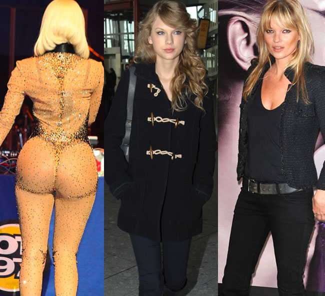 LOOKS: Taylor Swift y Kate Moss, sencillas. Nicki Minaj, extravagante