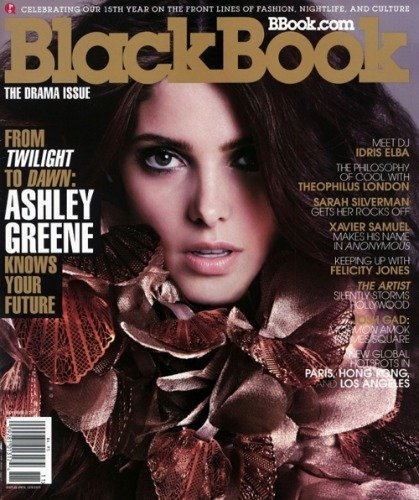 Ashley Greene, desmelenada y sexy a más no poder en la portada de BlackBook