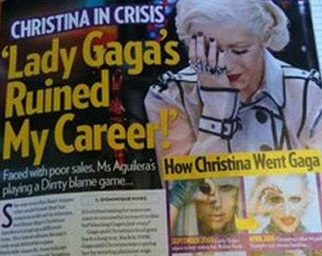 "Christina Aguilera dice que la ""perra"" de Lady Gaga ha arruinado su carrera"
