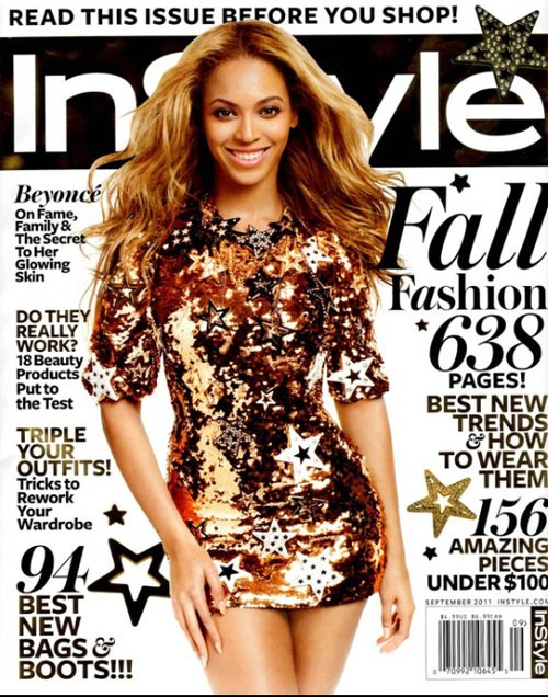 Beyoncé: Revista InStyle, septiembre 2011