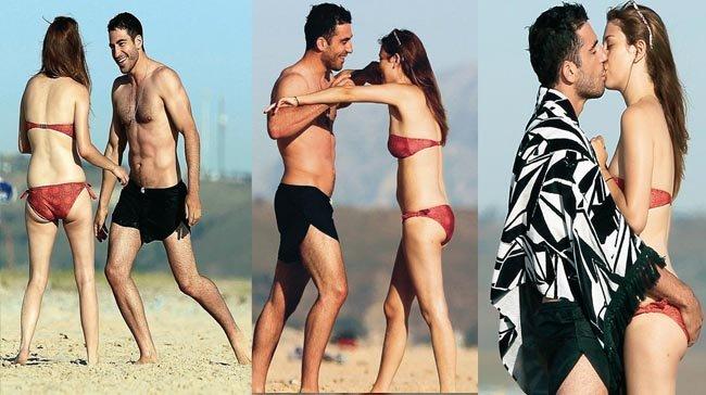 Ahora te achucho, ahora te cojo en brazos... Miguel Ángel Silvestre y Blanca Suárez se quieren en las playas de Cádiz