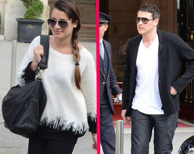 Lea Michele y Cory Monteith ('Glee') dicen adiós a París