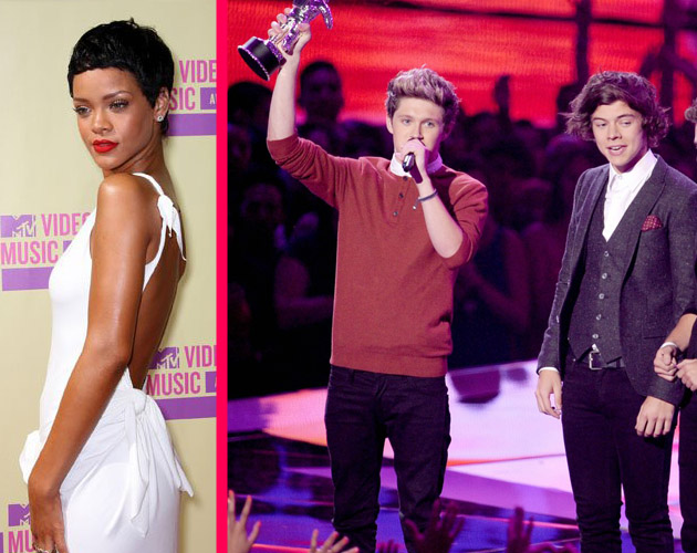 Rihanna y One Direction triunfan en los MTV Video Music Awards 2012