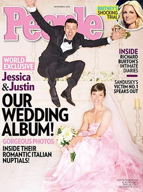 Justin Timberlake y Jessica Biel han vendido las fotos de su boda