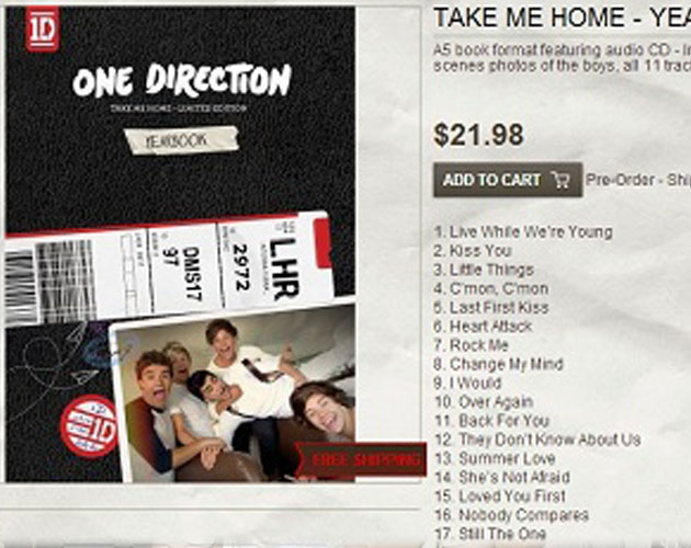 Ya tenemos la lista de canciones de 'Take Me Home' de One Direction