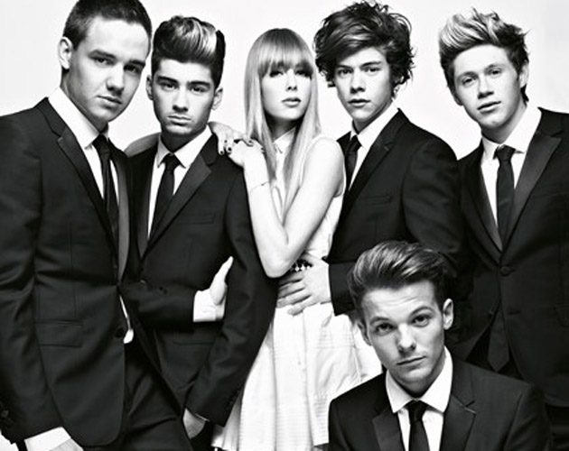 Los chicos de One Direction posan junto a Edie Campbell para Vogue