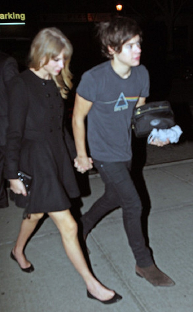 haylor harry styles beso taylor swift