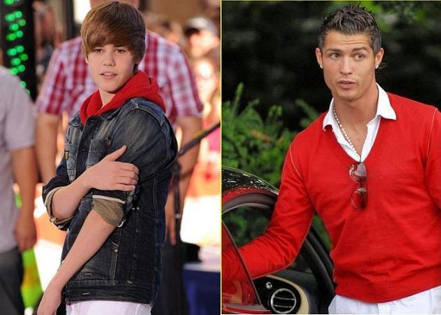 Cristiano Ronaldo es amigo de Justin Bieber