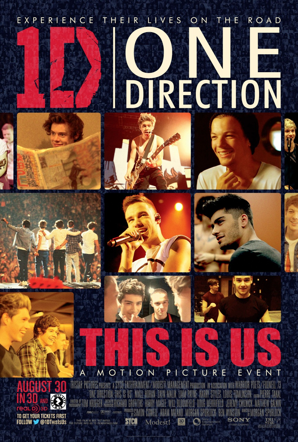 "Póster oficial de ""One Direction 3D This Is Us"""