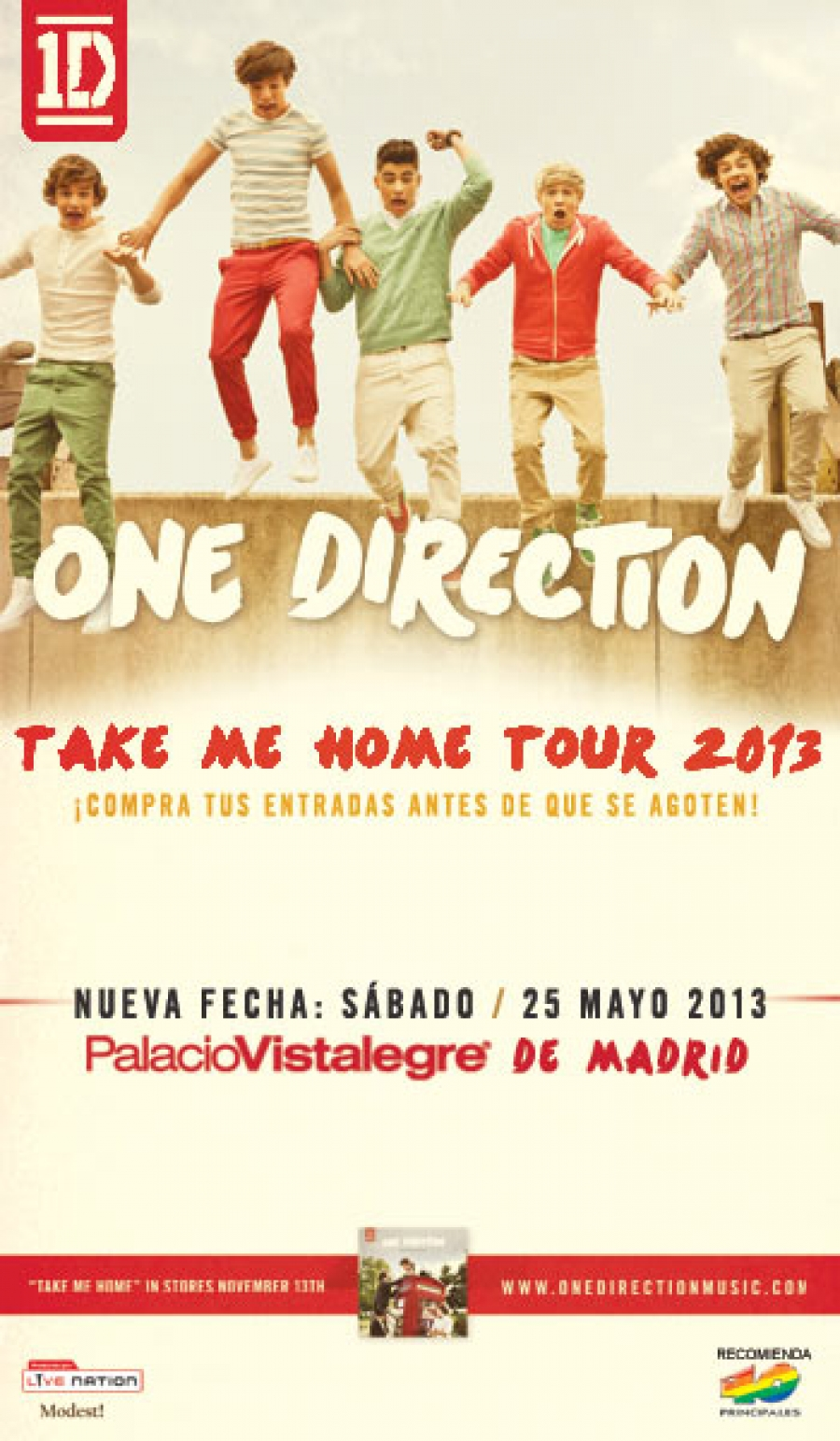 One Direction arrasará Vistalegre esta noche