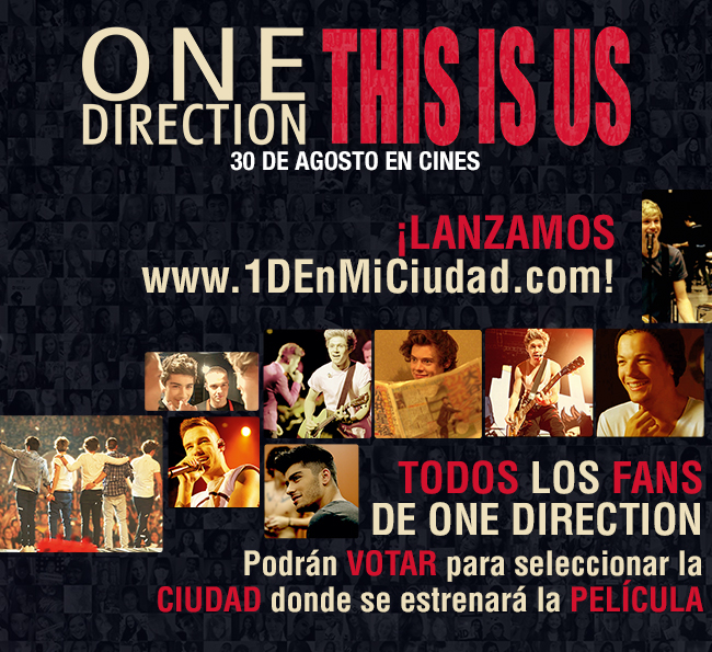 "Elige la ciudad en que se estrenará ""ONE DIRECTION: THIS IS US"""