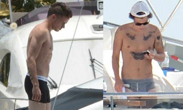 ¡Harry Styles y Liam Payne en calzoncillos!