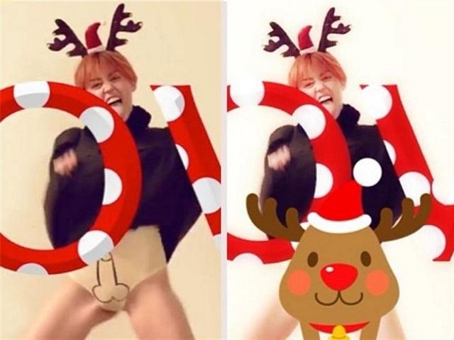 Miley Cyrus se pinta un pene para felicitar las navidades