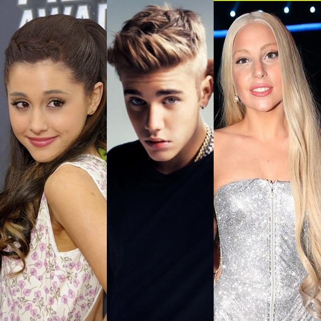 Lady Gaga y Ariana Grande apoyan a Justin Bieber
