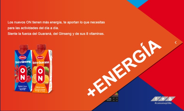 Juver ON: ¡naturalmente energética!