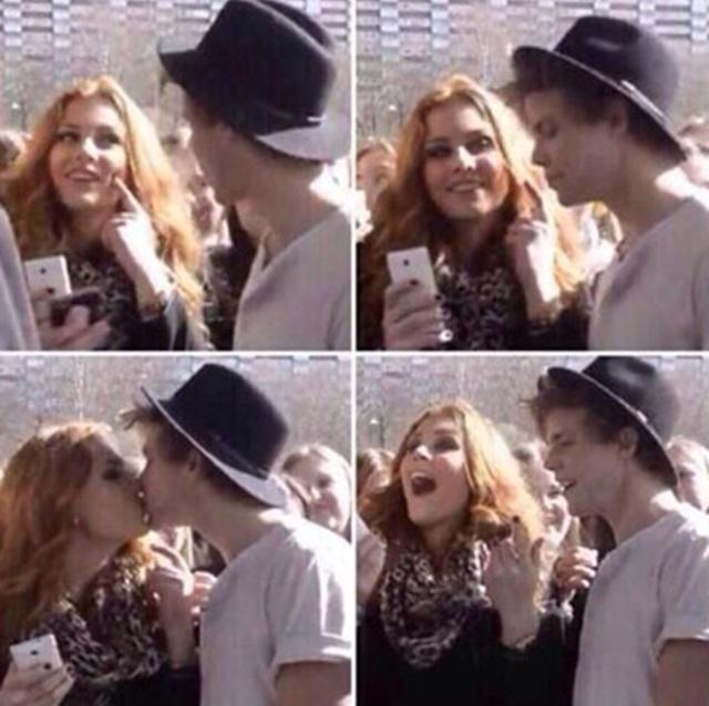 Gemma styles and ashton irwin kissing
