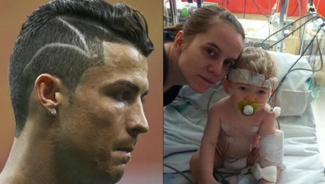 Cristiano Ronaldo le dedica su corte de pelo a un niño enfermo