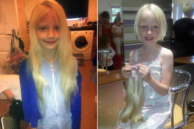 Charlie Tillotson, la Rapunzel de carne y hueso, se corta para el pelo para los niños con cáncer