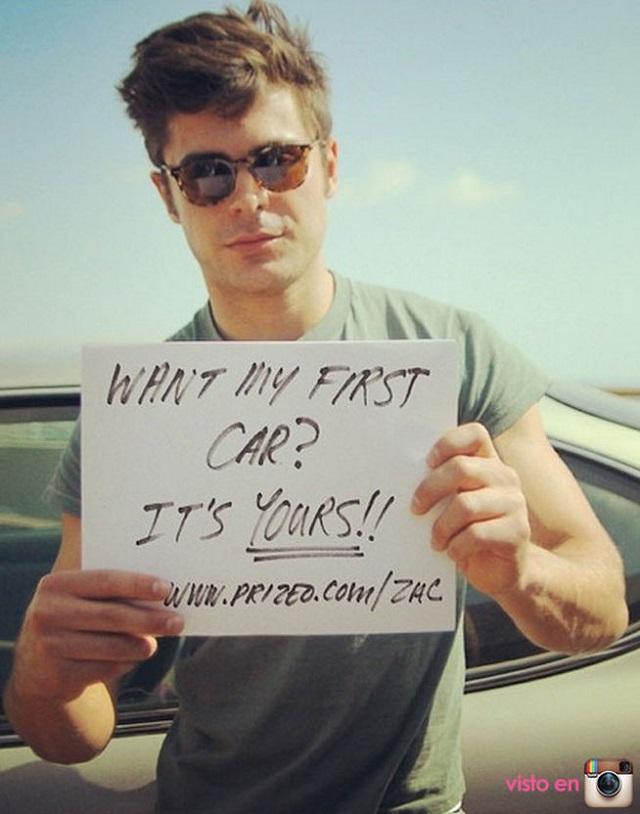 ¿Quieres cenar con Zac Efron y quedarte con su primer coche?