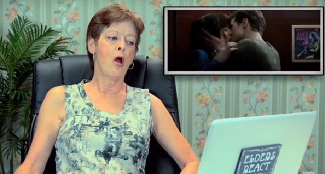 Así reaccionan personas mayores al ver el trailer de '50 sombras de Grey'