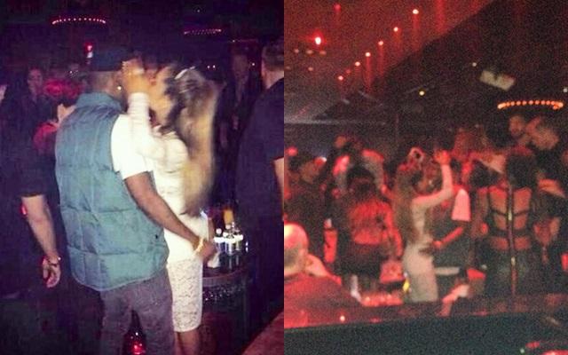 Ariana Grande y Big Sean besándose