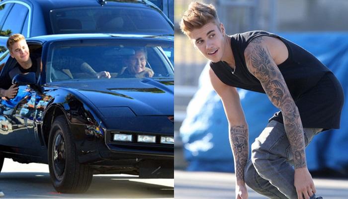 Justin Bieber graba un videoclip con David Hasselhoff