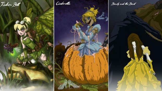 Las princesas Disney se preparan para Halloween