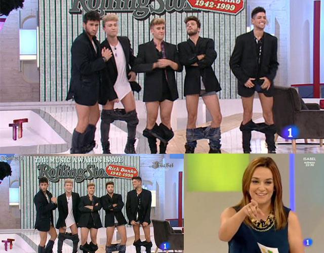 Auryn desnudos en el programa deen  Toñi Moreno