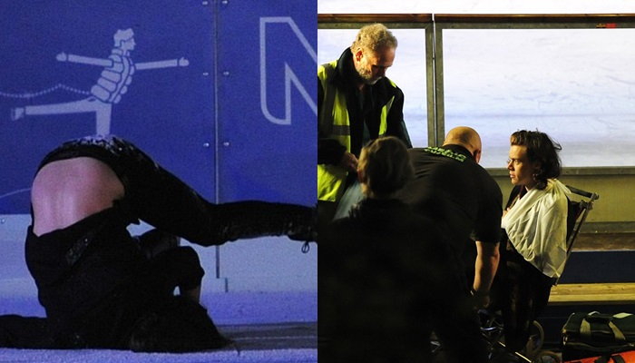 Harry Styles se lesiona el brazo patinando sobre hielo