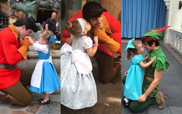 Madre disfraza a su hija de diferentes princesas Disney para que pierda la timidad