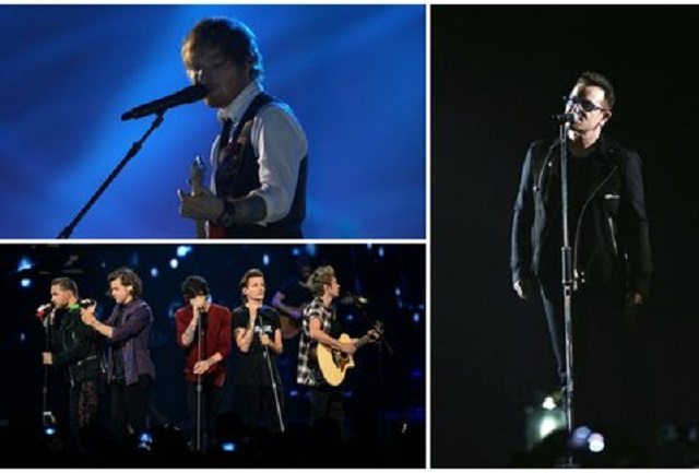 Ed Sheeran y One Direction cantan contra el ébola