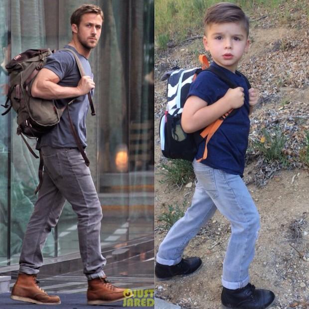 Un niño de 4 años imita las fotos de famosos en Instagram