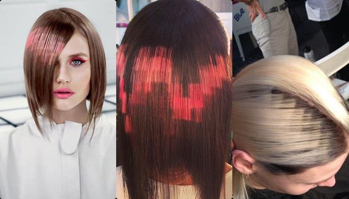 Teñir el cabello de colores con papel crepe Cabello
