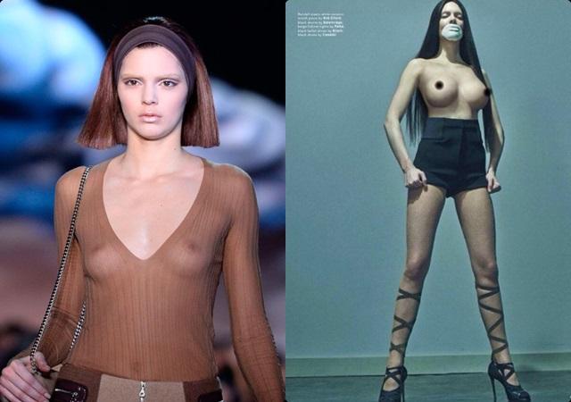 ¿Por qué Kendall Jenner usó photoshop en sus pechos?