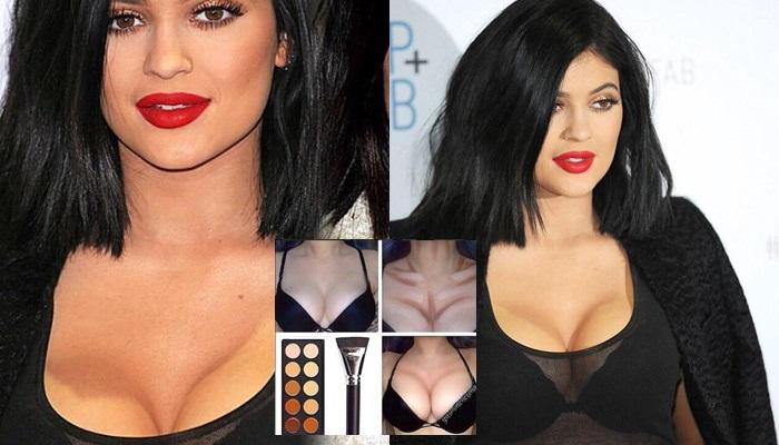 Polémica por los pechos maquillados de Kylie Jenner