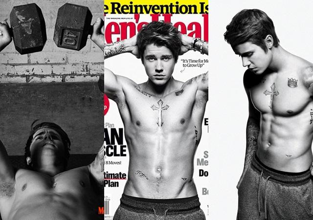 Las mejores fotos de Justin Bieber desnudo para la revista Men'sHealth