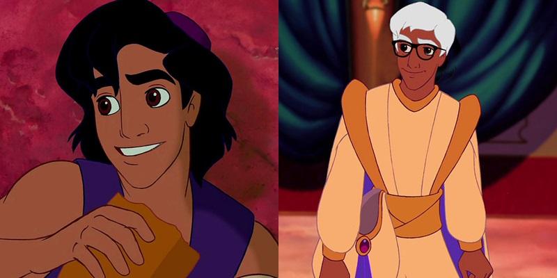 ¿Cómo son los príncipes Disney envejecidos?