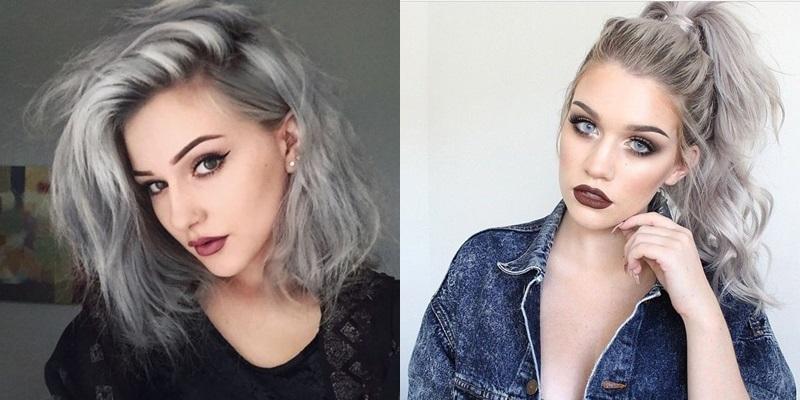 El pelo gris, la última tendencia en chicas jóvenes