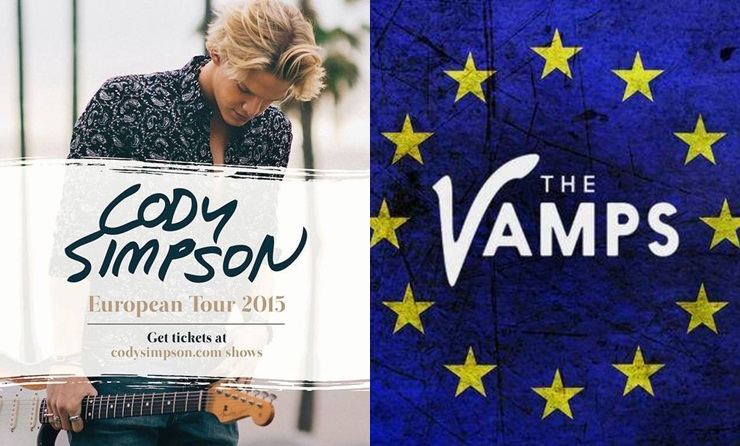 Cody Simpson y The Vamps confirman conciertos en España