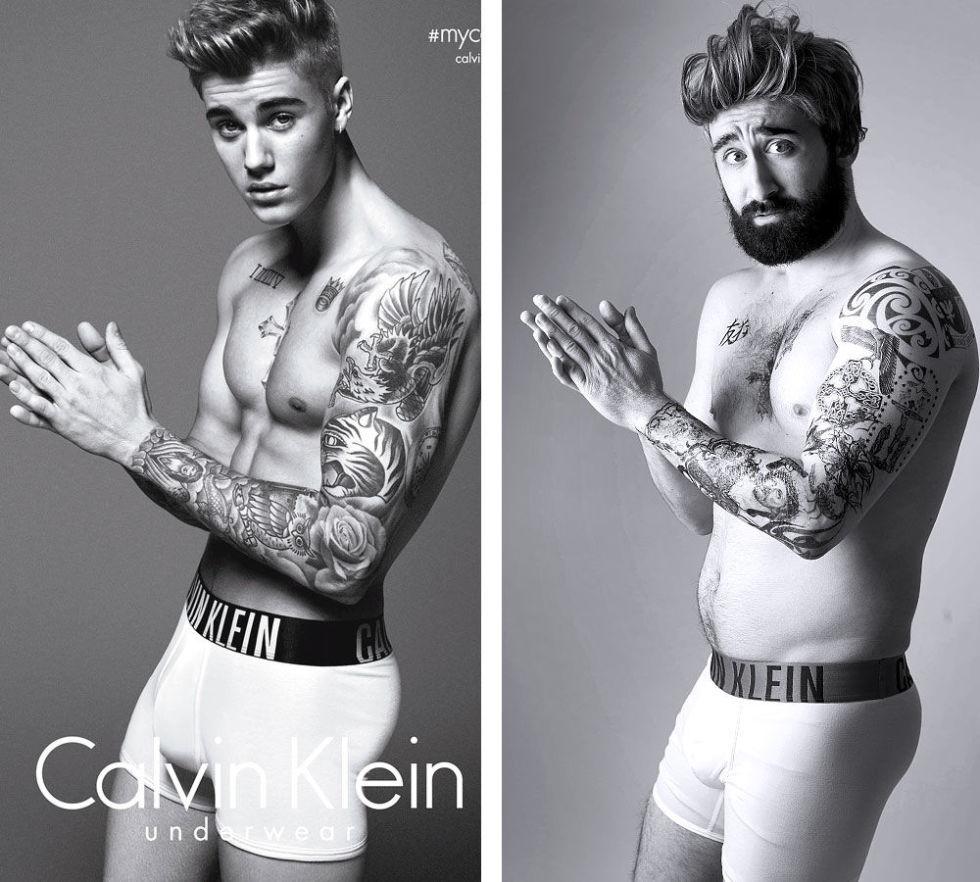 Un hombre imita diferentes outfits de Justin Bieber