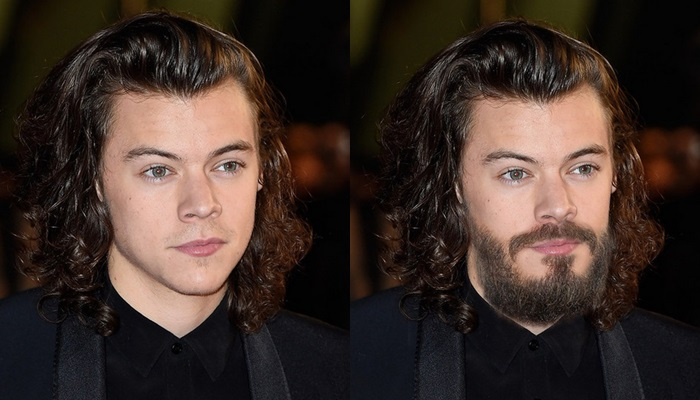 ¿Cómo serían los famosos con barba?
