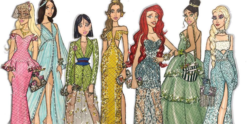 ¿Cómo irían vestidas las princesas Disney al baile de promoción?